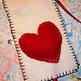 Inside Queen of Hearts Needlebook