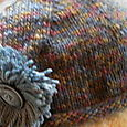 Knit hat close-up