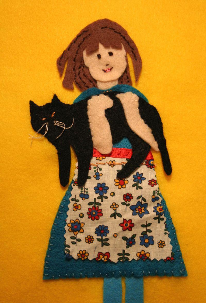 Girl & Cat