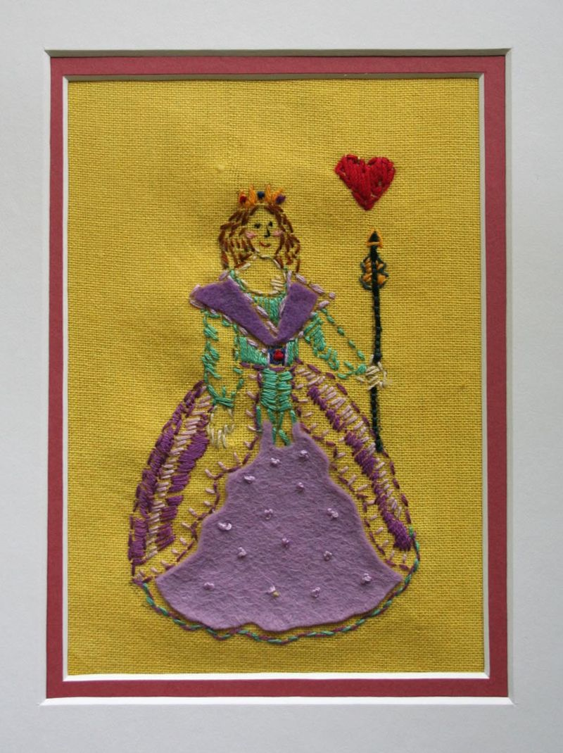 Embroidery Art matted