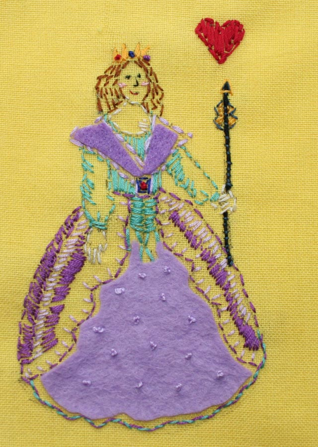 Queen of Hearts Embroidery
