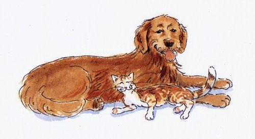 Tom Foolery & Dog spot art