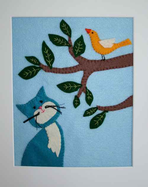 Another Cat and Bird