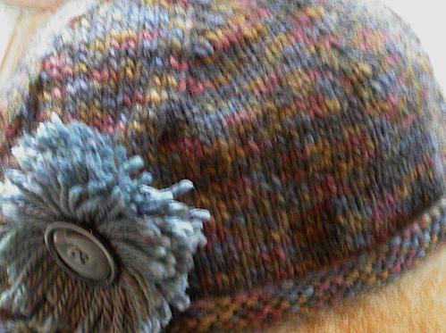 Knit hat close-up