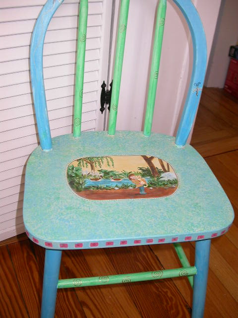 Hand-painted child's chair